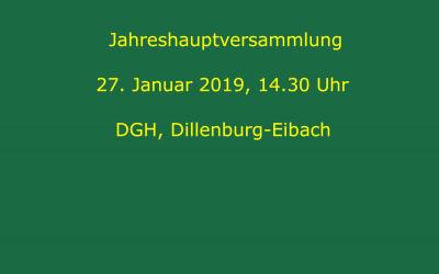 Einladung zur JHV am 27. Januar